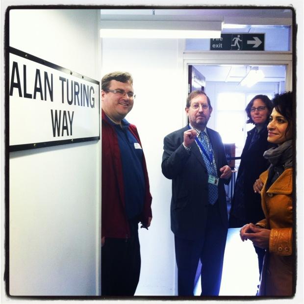 Reid Hoffman, Simon Greenish, Megan Smith, Julie Hanna and Sue Black Bletchley Park, November 2011