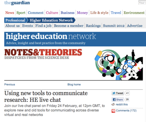Making Research Impact – Guardian Live Chat | Dr Sue Black