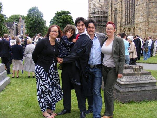 At my son Sam's graduation, Durham University 2009
