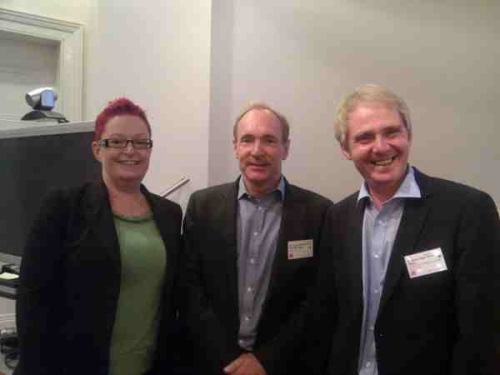With Tim Berners Lee and Nigel Shadbolt at the Royal Society