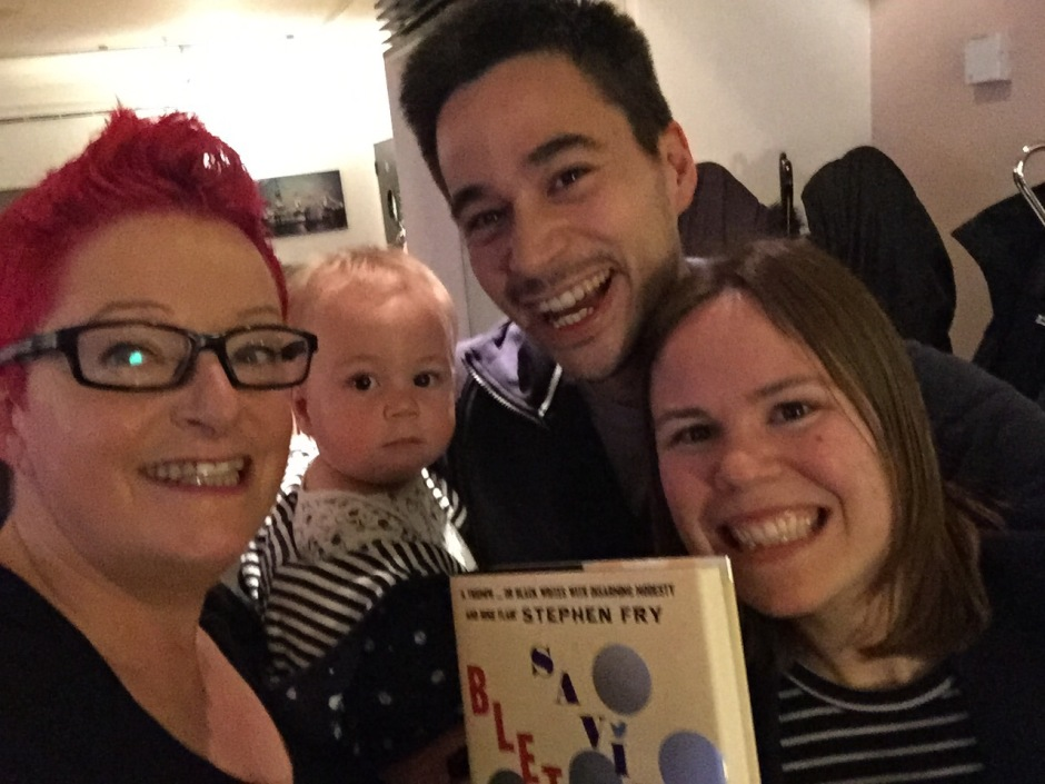 With my son, daughter in law and grandson at my book launch