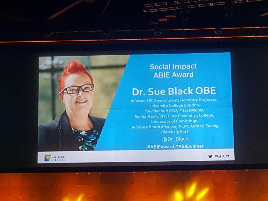 sue black social impact ghc17